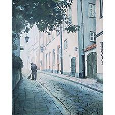 Uliczka, Antoni Kowalski, 46×36 cm, 25-18-1-2019-poz.3