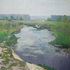 Rzeka Narew, Daniel Gromacki, 80 x 80 cm, nr kat. 32-18-2-2019 poz.1