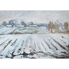 Zima w polach, Daniel Gromacki, 50 x 70 cm, nr kat. 32-18-2-2019 poz.2