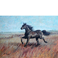 Koń, Konrad Fedyk, 29,5×40 cm, nr kat. 22-11-1-2019