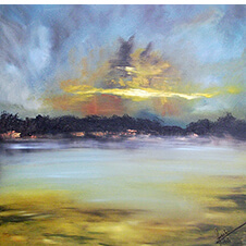 Zachód słońca, Paulina Szabra, 60×60 cm, nr kat. 10-7-12-2018