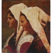 Hiszpanki, Dariusz Kaleta, 60 x 55 cm, nr kat. 66/1/7/2019-poz.1
