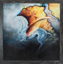 Astralny, Monika Skowronek, 100 x 100 cm, nr kat. 78/22/15/11/2019/poz.2