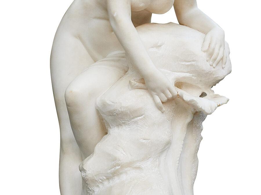 Battiglia Eugenio Dziewczyna z liściem,  1900