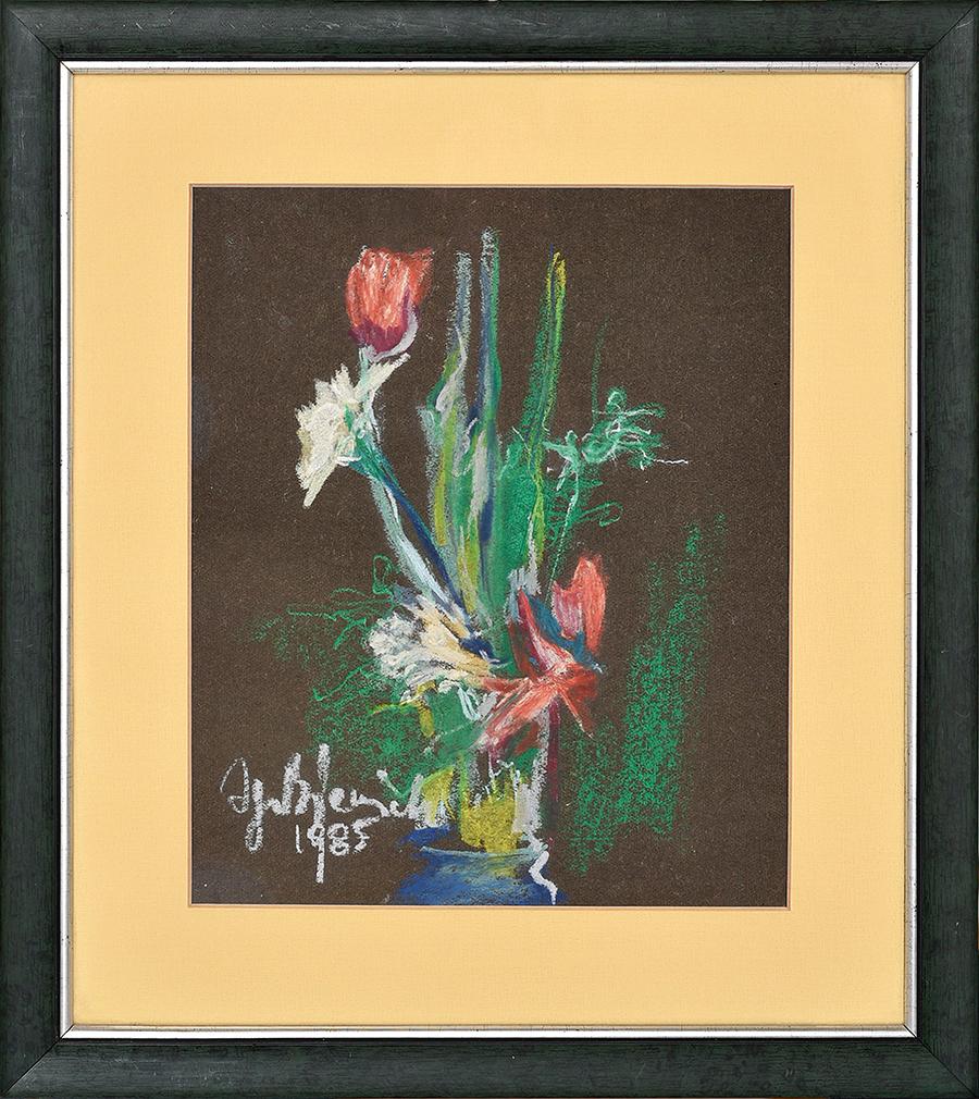 Bieniek Ignacy Bukiet kwiatów, 1985