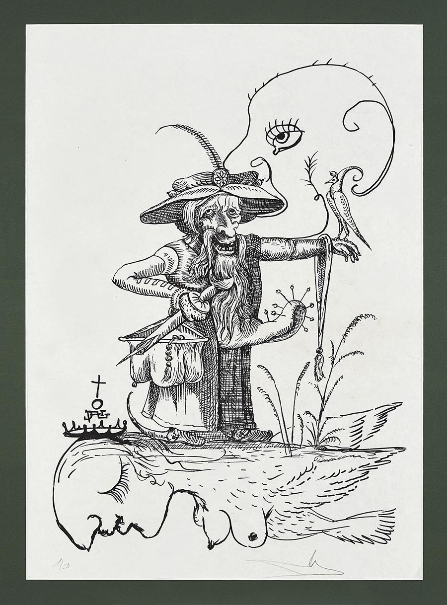 Dali Salvador Les Songes Drolatiques de Pantagruel, 1973