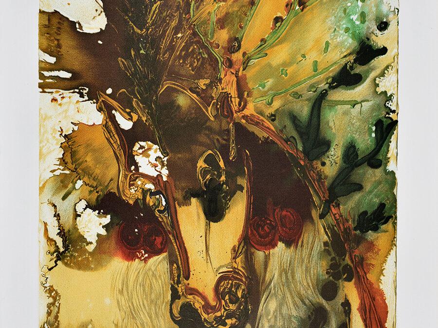 Dali Salvador Z cyklu Dalinean Horses: Bucephale [Alexander's horse]