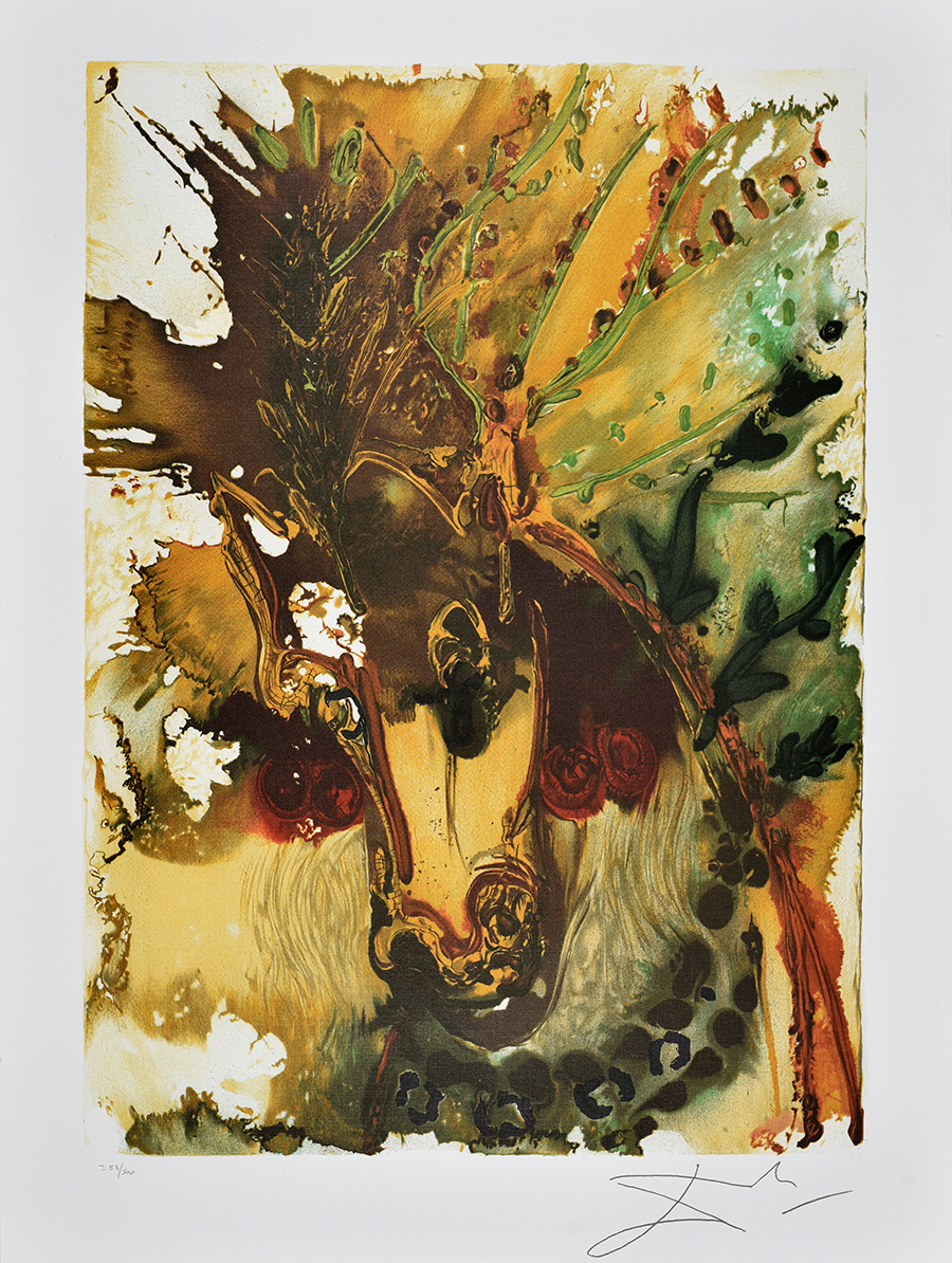 Dali Salvador Z cyklu Dalinean Horses Bucephale