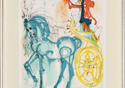 Dali Salvador Z cyklu Dalinean Horses: Le cheval de triomphe (Triumph and horse)