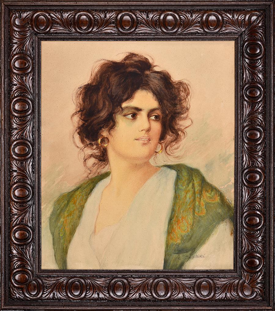 Dębicki Stanisław Portret kobiety, 1920