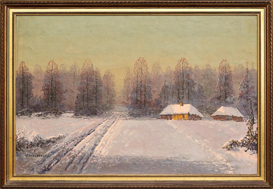 Korecki Wiktor Pejzaż zimowy