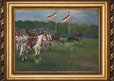Kossak Jerzy Parada kawalerii, 1935