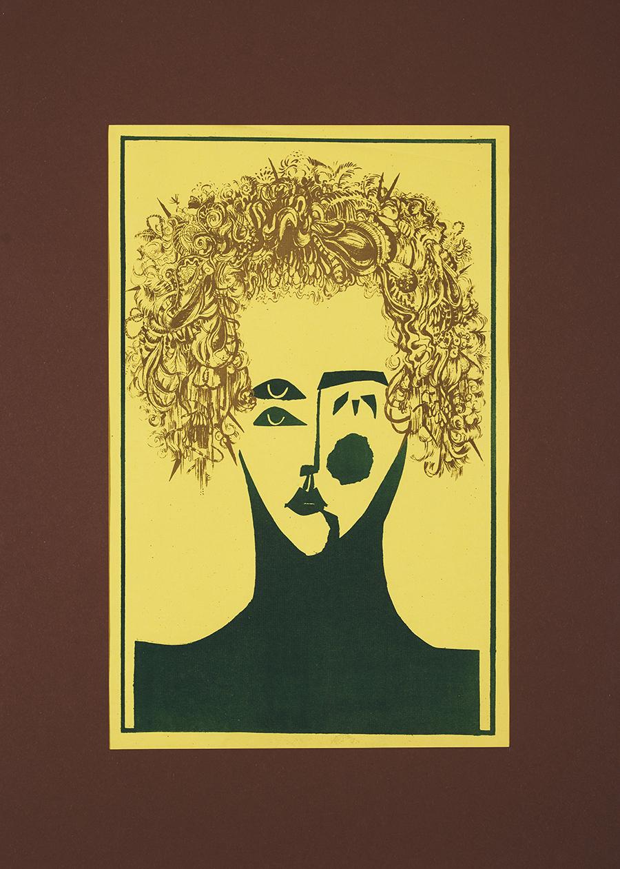 Molik-Niżnik Irena Twarz kobiety - żółta, 1976