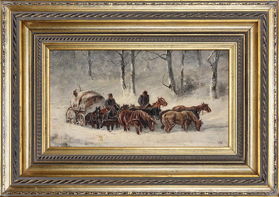 Wolski Jan Pejzaż zimowy, 1915