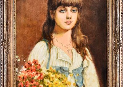 Zuber Juliusz Portret dziewczynki, 1891