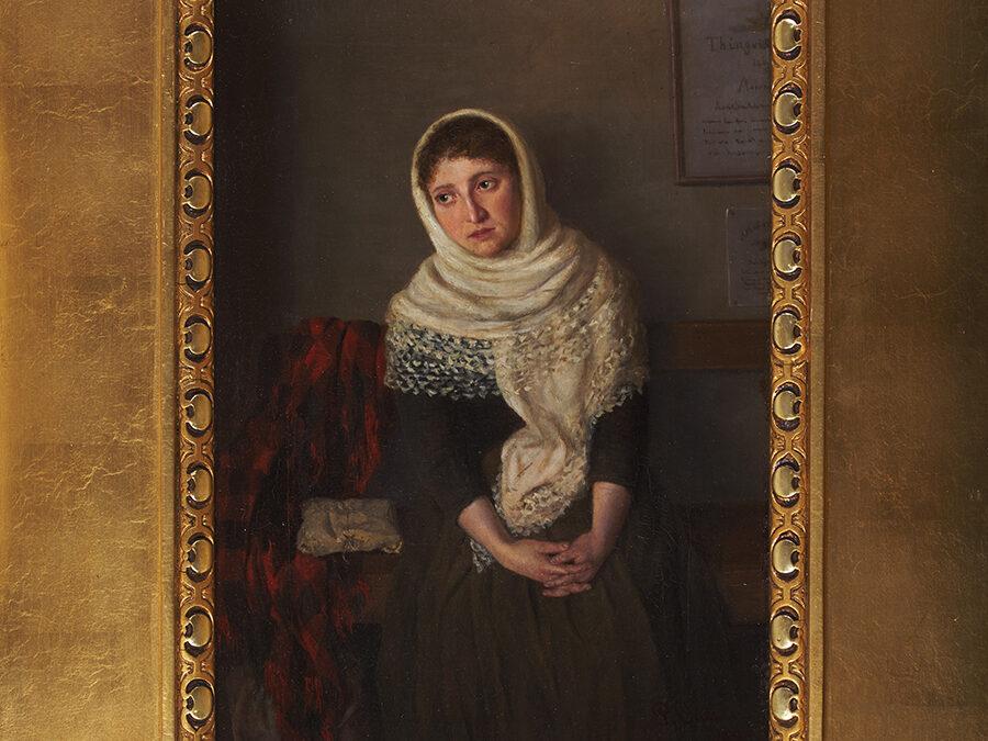 Odenius Paulina, Portret kobiety w białym szalu