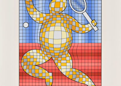 Vasarely Victor, Tennis player, 1987