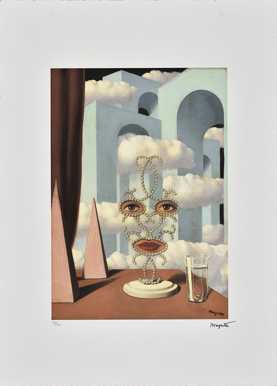 Magritte Rene, Face in the clouds, 1989