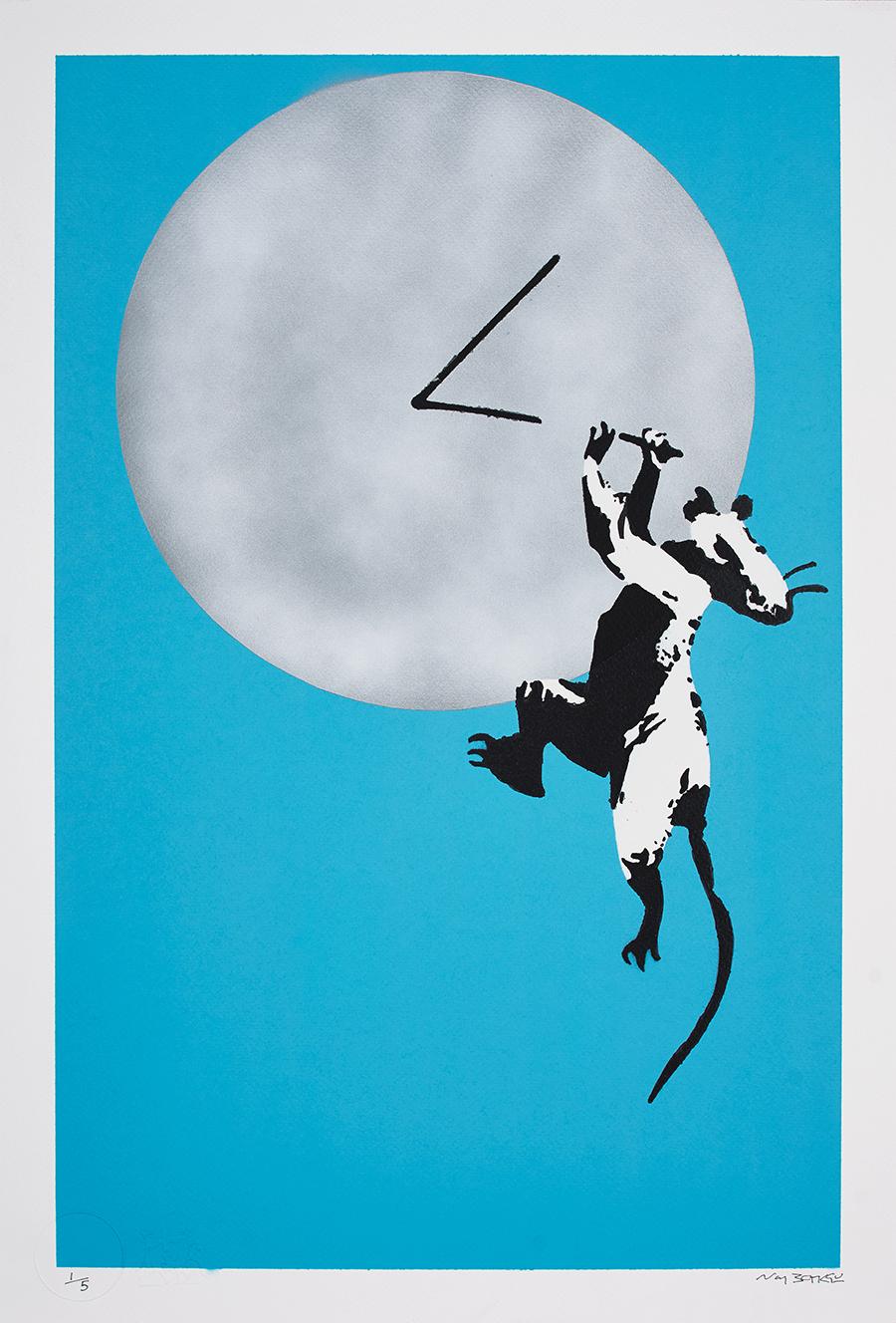 Banksy, Clock Rat, 2019