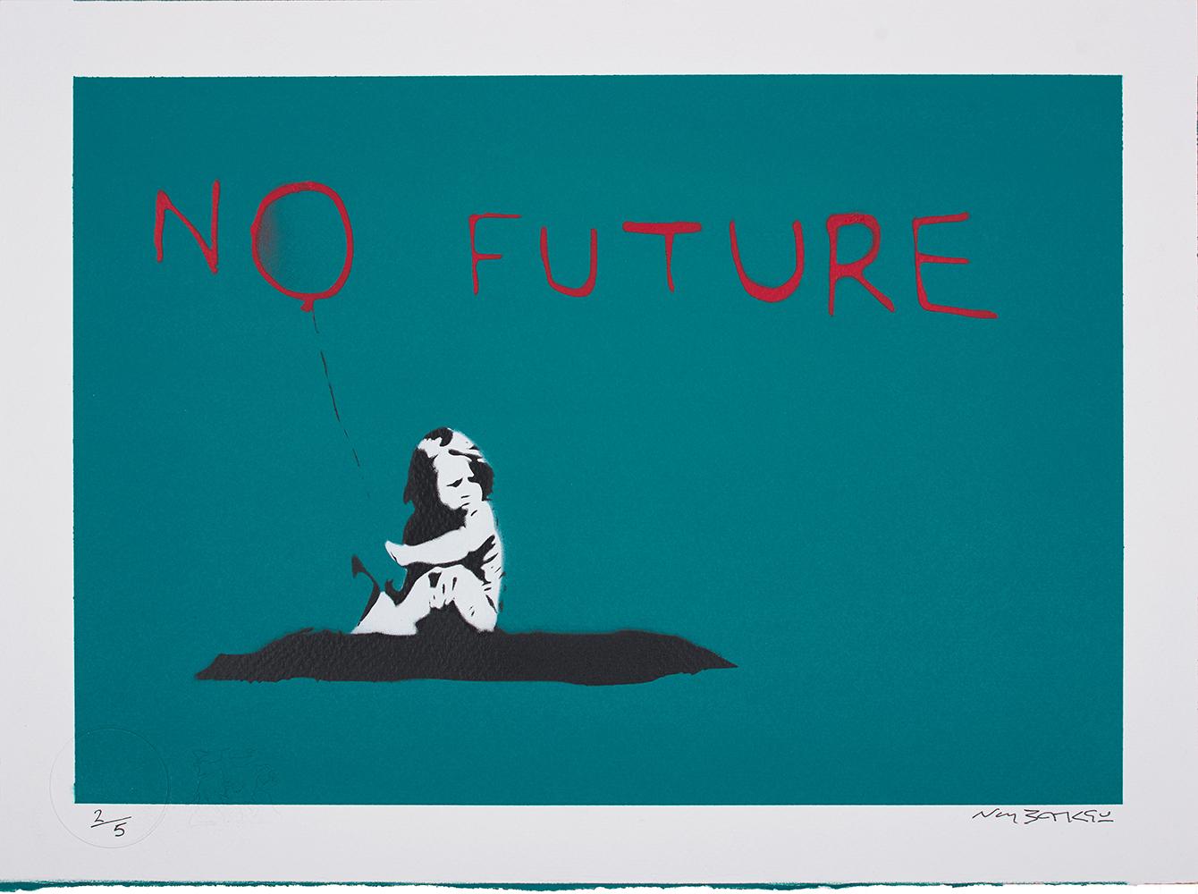 Banksy, No Future, 2019
