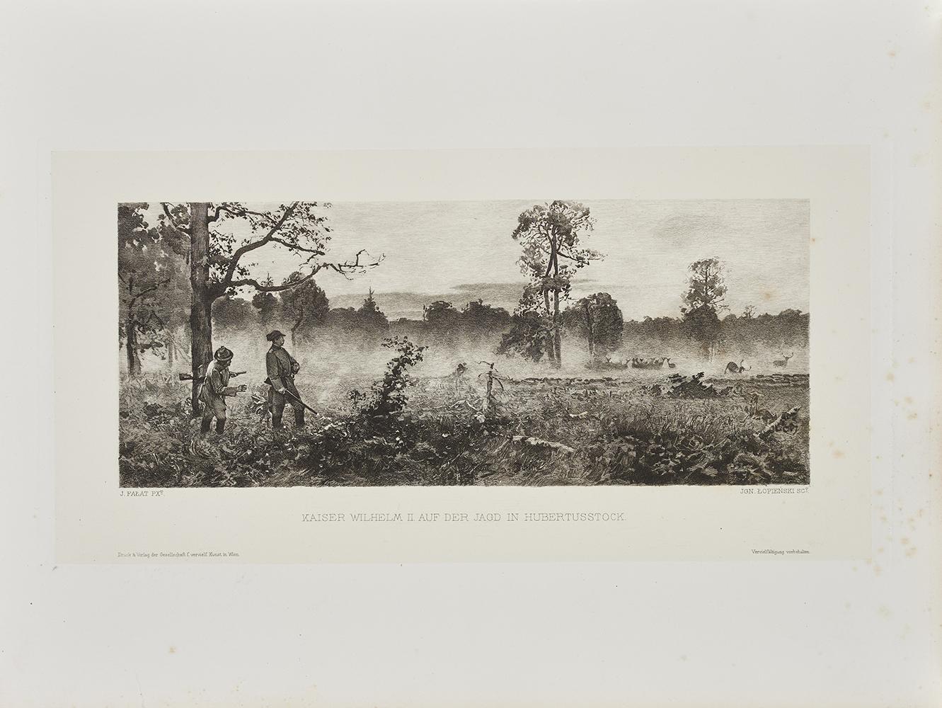 Łopieński Ignacy, Cesarz Wilhelm II na polowaniu w Hubertusstock, 1893