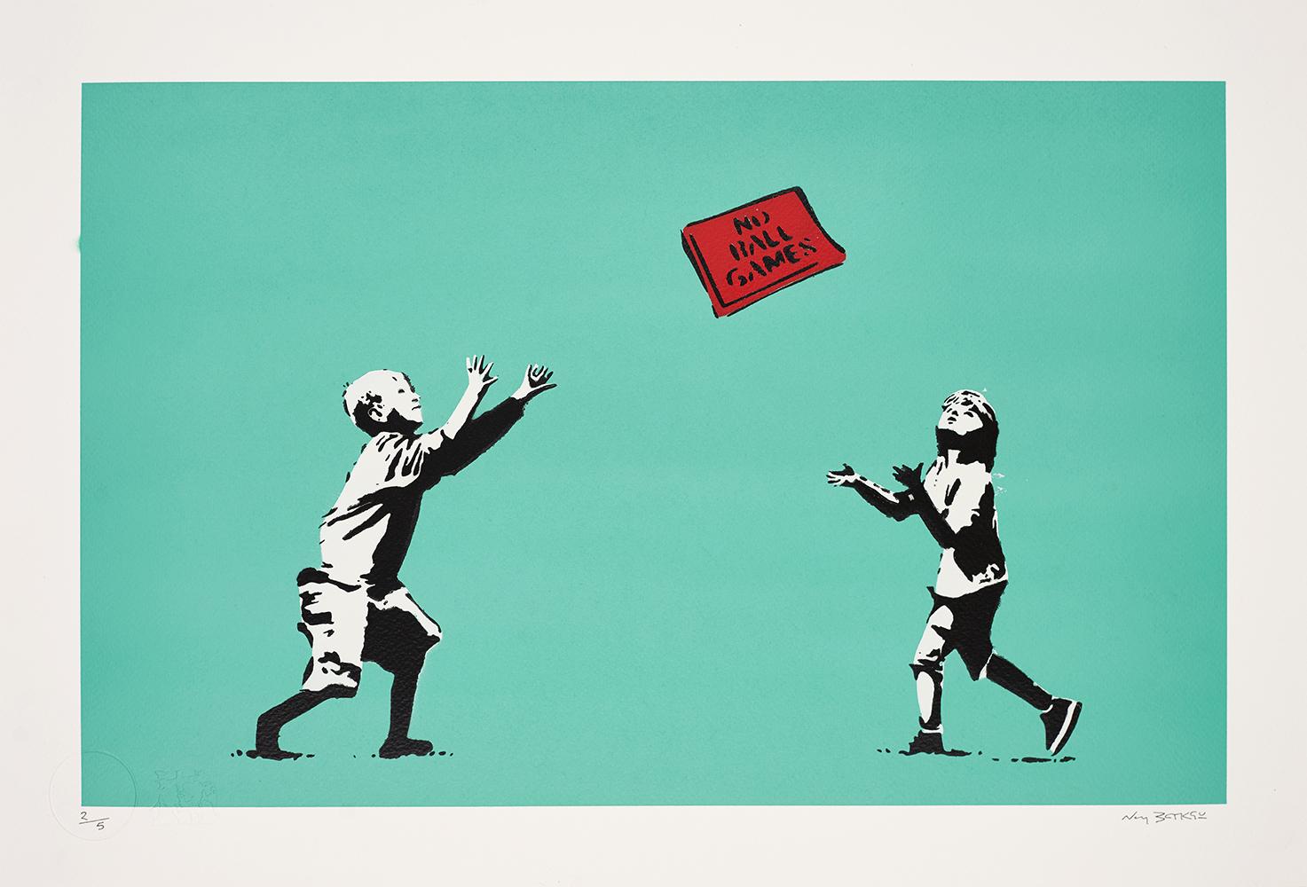 Banksy, No Future, Not ball games, 2019