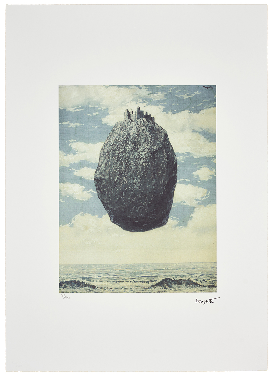 Magritte Rene, The castle of the Pyrenees, 1989