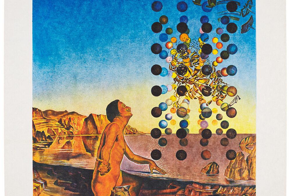 Dali Salvador, Dali Nude, in Contenplation before the Five Regular Bodies, 1979