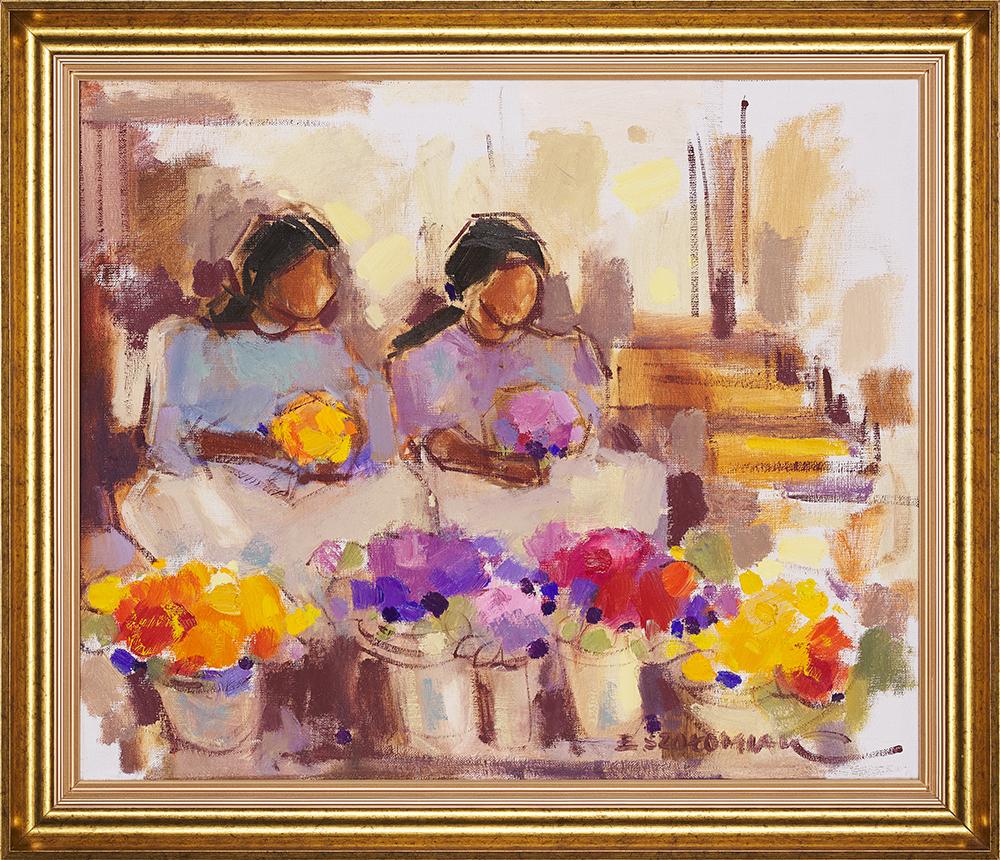 Szołomiak Elżbieta, Kwiaciarki, 1970.