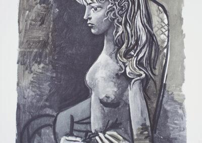 Picasso Pablo, Sylvette au fauteuil, 1980